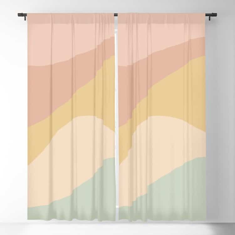 Abstract Blackout Curtains by Colour Poems