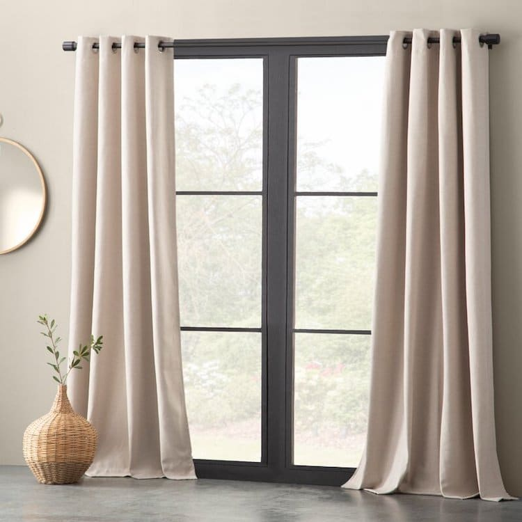 Beige Blackout Curtains by Eider & Ivory
