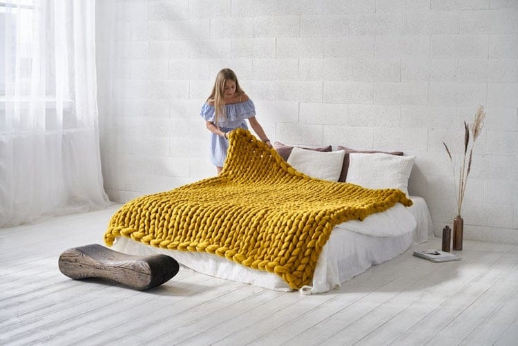 Knit Blanket by Cheery Little Sheep