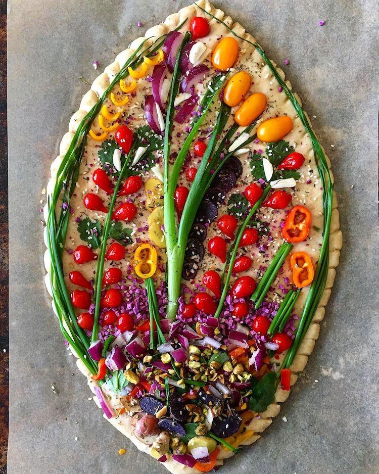 arte con vegetales Blondie + Rye