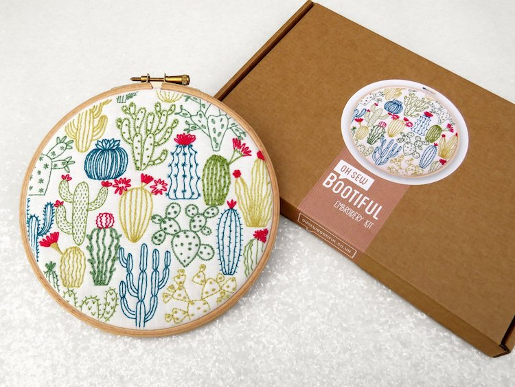 Cactus Embroidery Kit by Oh Sew Bootiful
