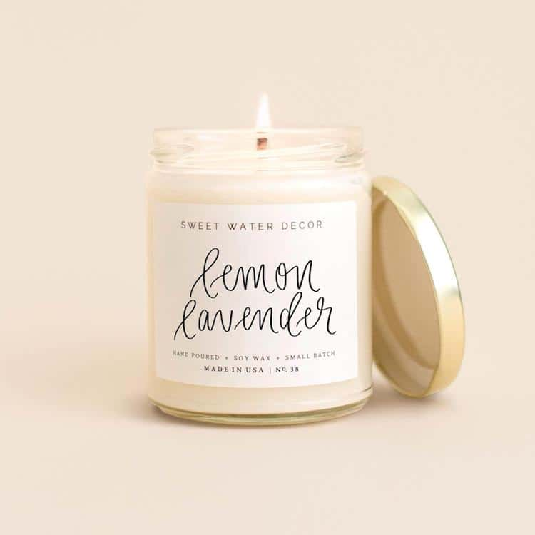 Lemon Lavender Candle by Sweet Water Decor