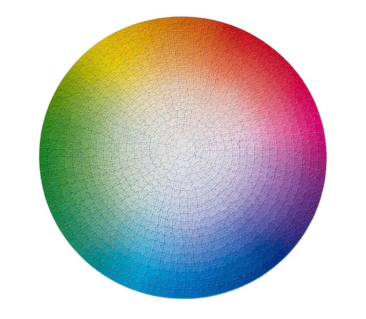 1000 Colors Wheel Puzzle by Clemens Habicht