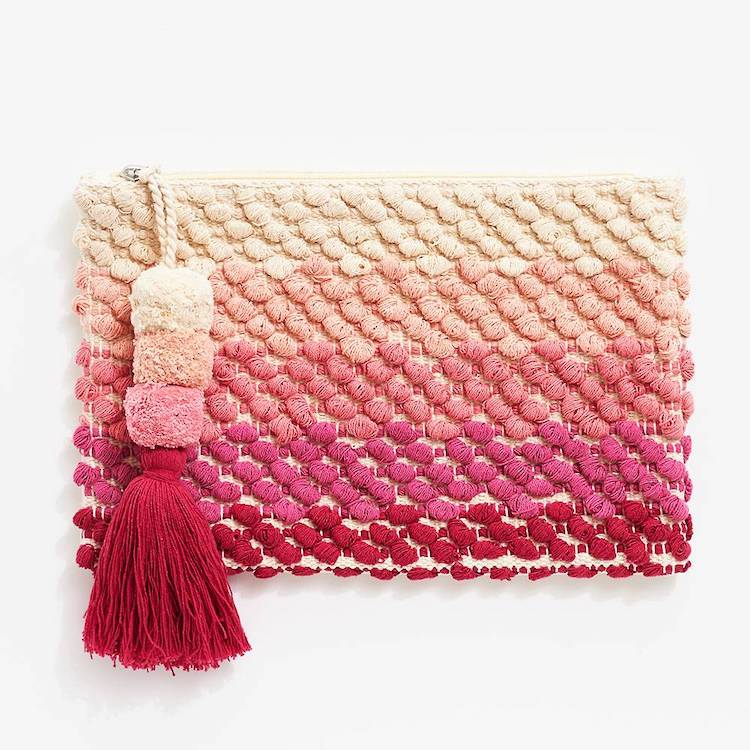 Pink Ombre Carry All Pouch