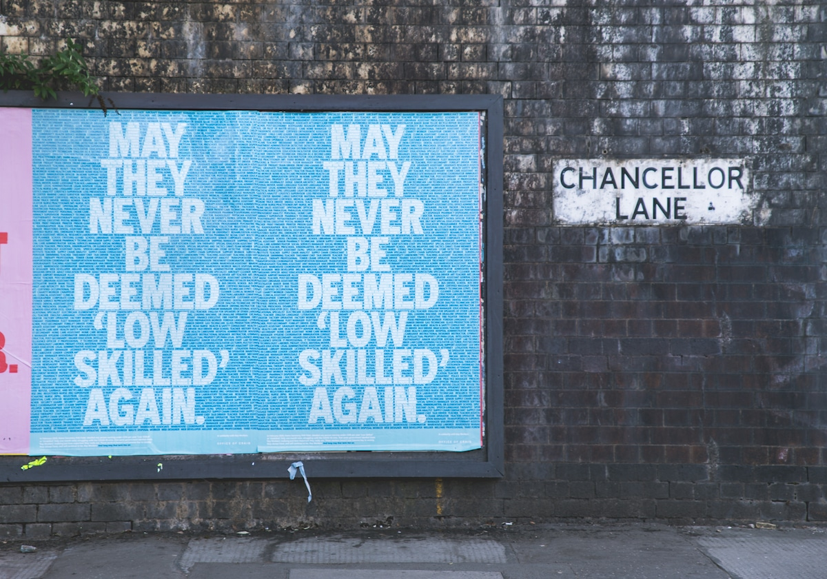 Low Skilled Workers Posters by Craig Oldham