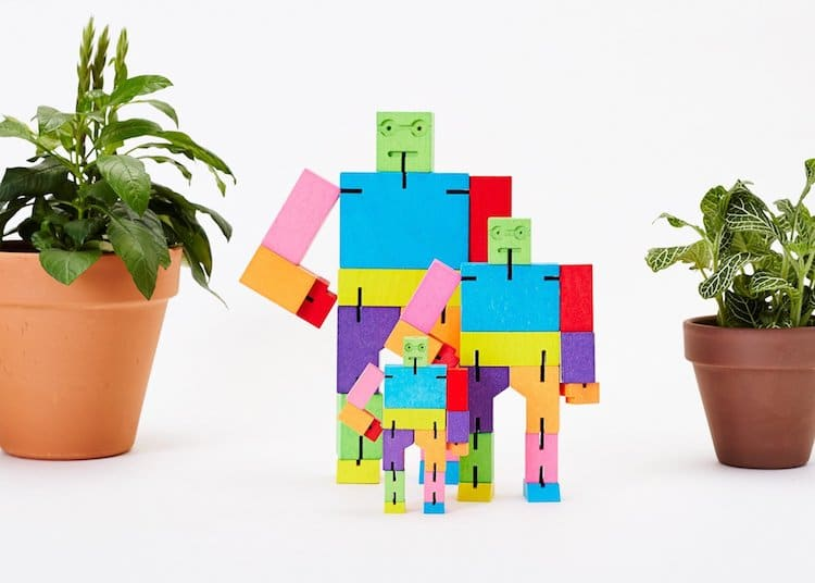 Multicolored Cubebot by David Weeks