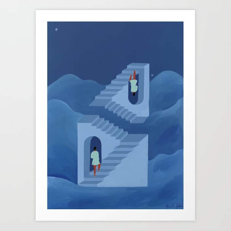 ilustracion decorativa por Isabelle Feliu