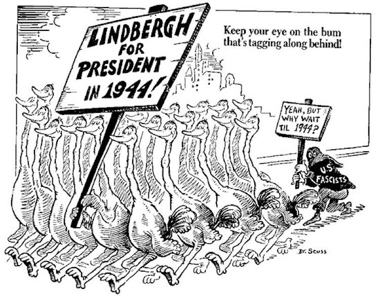 Dr Seuss Political Cartoon