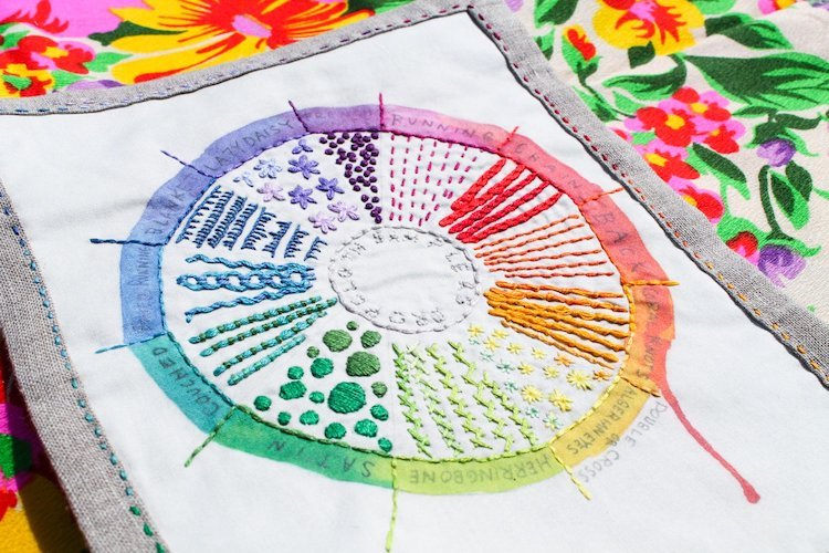 Color Wheel Embroidery by Dropcloth
