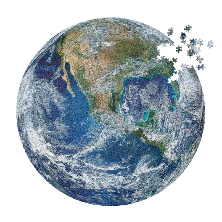 Rompecabezas circular de la Tierra