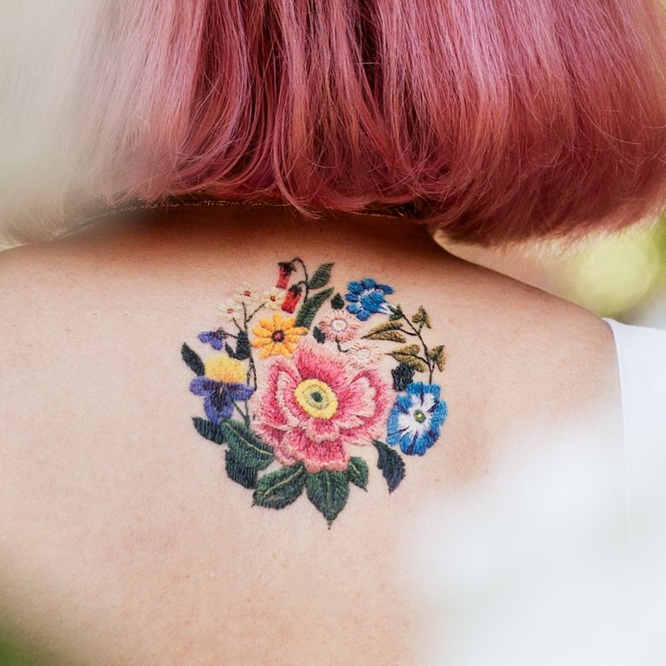 Embroidery Temporary Tattoo