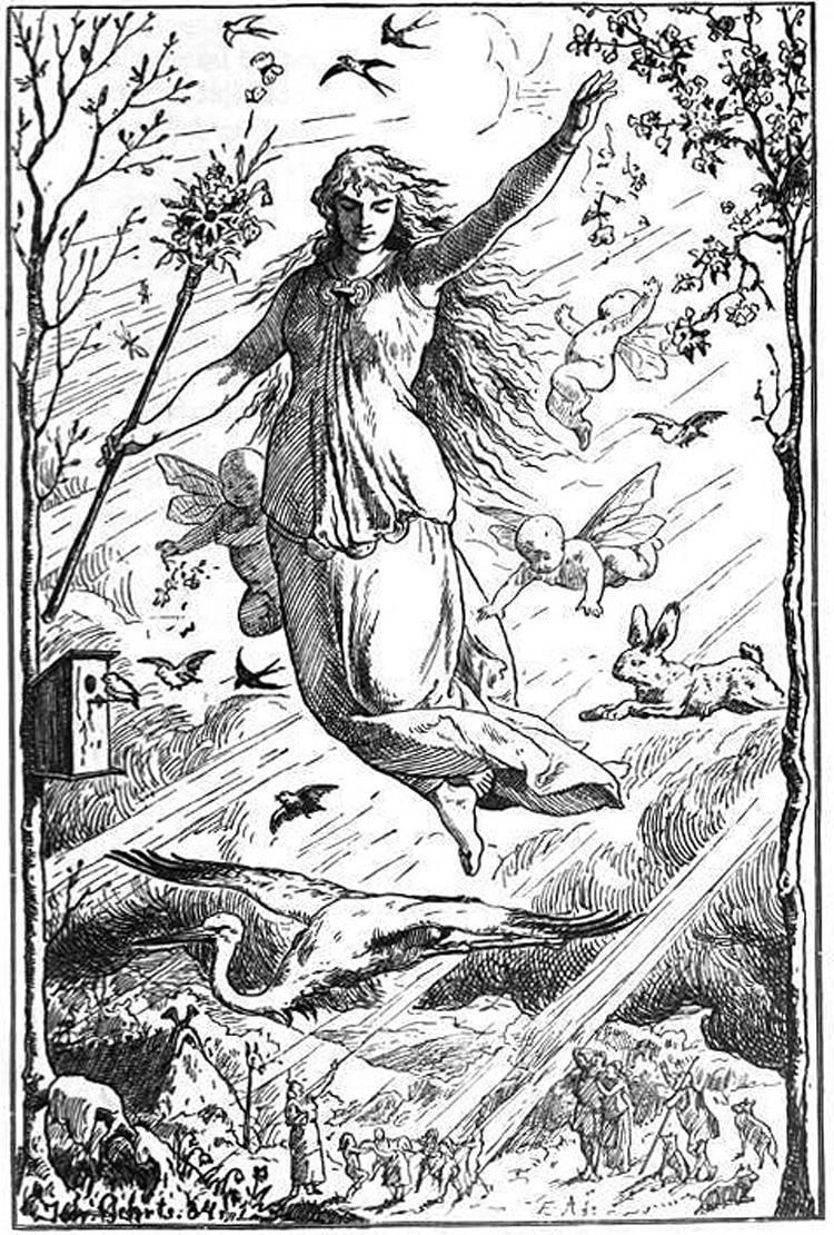 Ostara, diosa germánica de la primavera