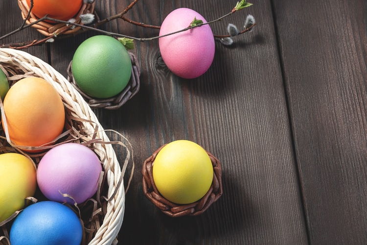 Easter Eggs and Easter Basket