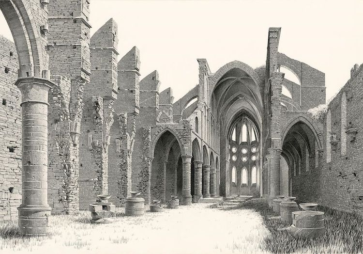 Architectural Drawing of Abbaye de Villers