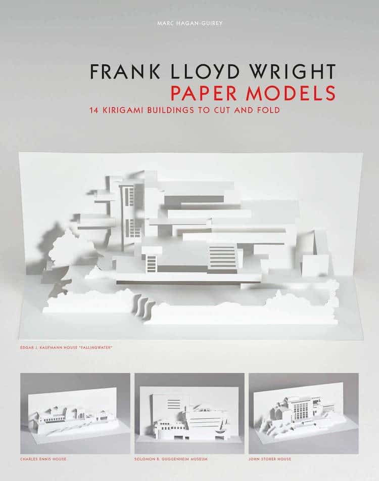 Frank Lloyd Wright Paper Models by Marc Hagan-Guirey