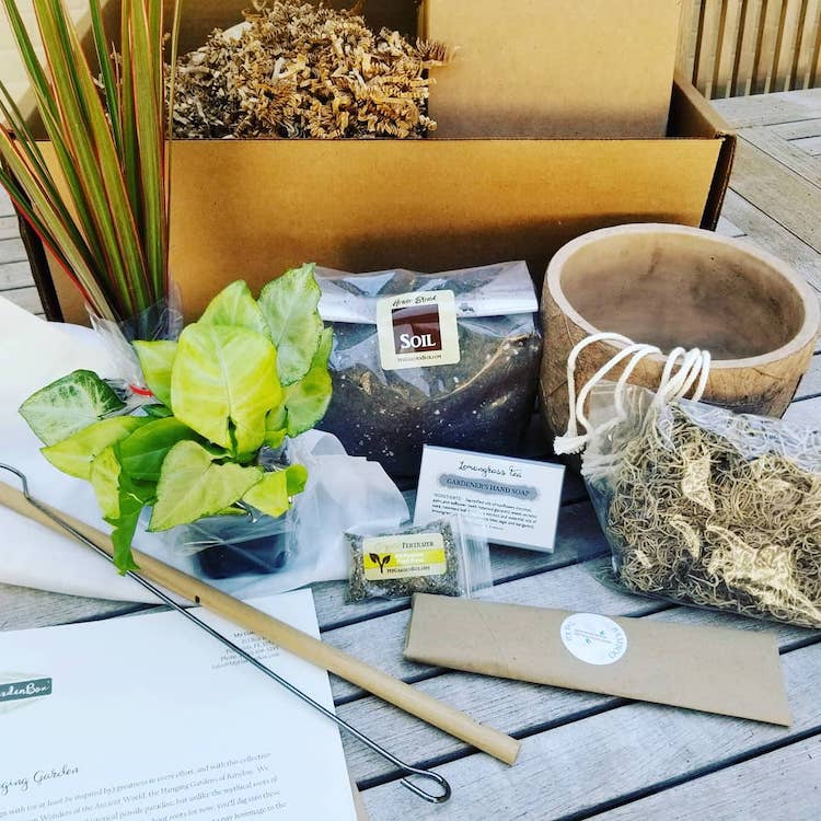Subscription Box Filled with Gardening Supplies