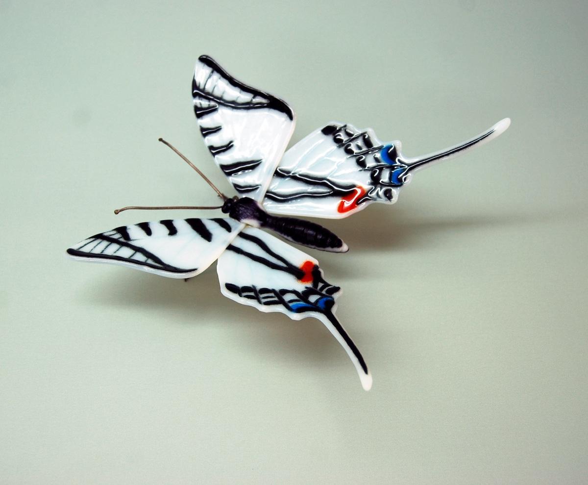 Sculpture of an Endangered Butterfly by Laura Hart