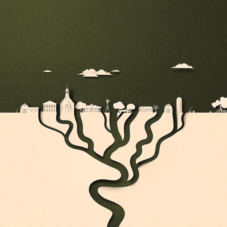 ilustracion editorial de cambio climatico