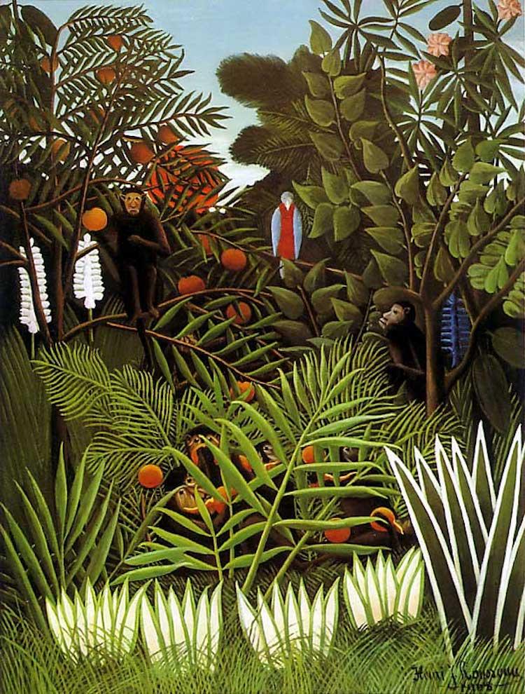 Jungle Painting by Henri Rousseau