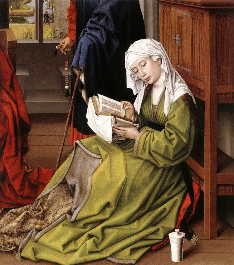 Pintura de una mujer leyendo