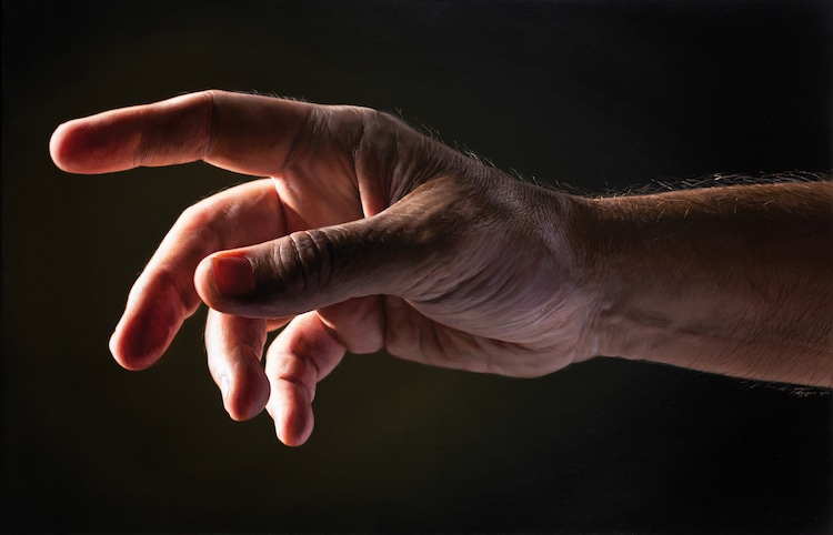 Realistic Hand Painting by Javier Arizabalo Garcia