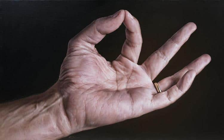 Realistic Hand Painting