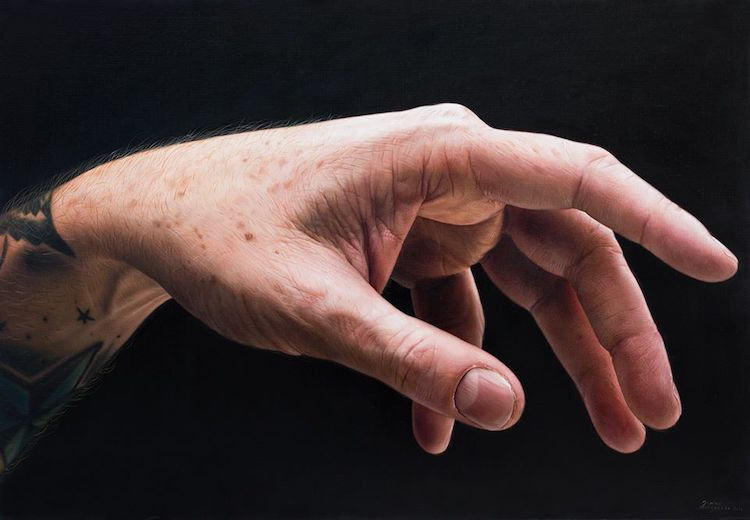pinturas de manos por Javier Arizabalo Garcia