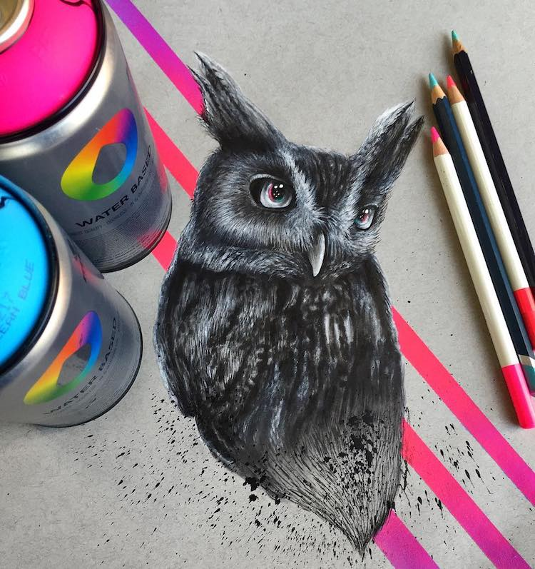 Endangered Animal Illustrations by Jonathan Martinez
