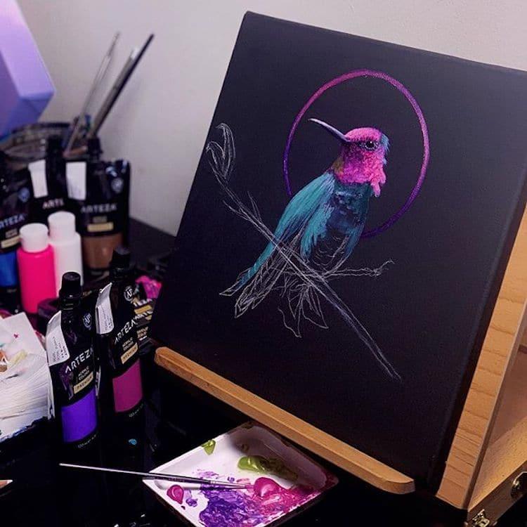 ilustracion neon