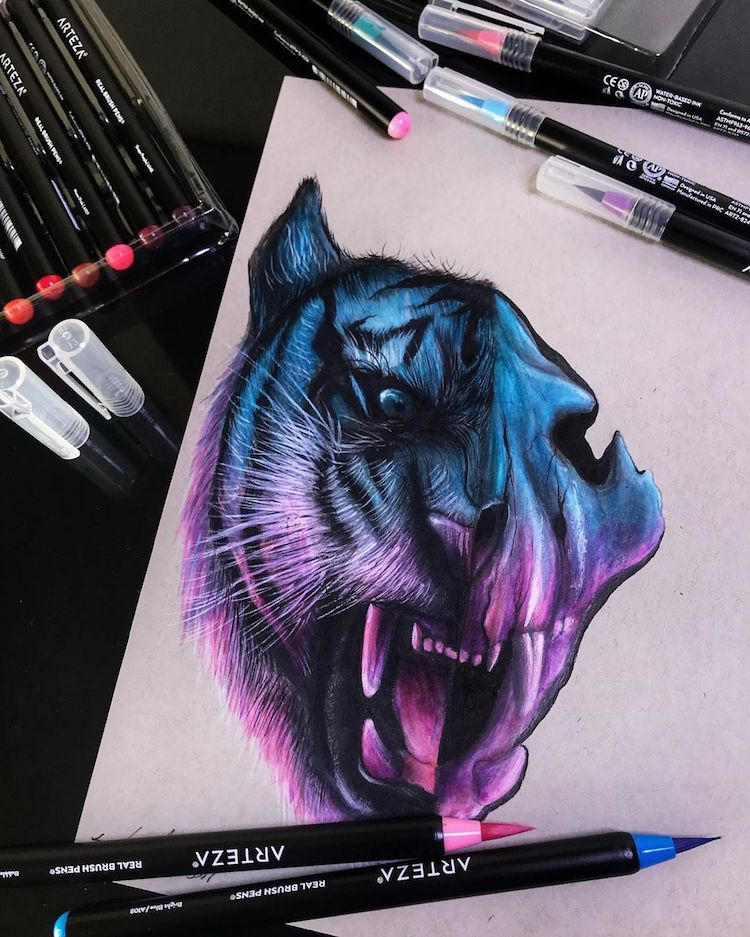 Tiger Illustration by Jonathan Martinez