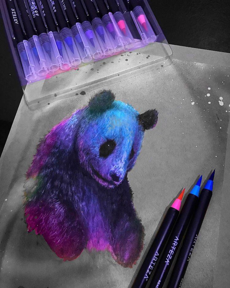 ilustracion de panda Jonathan Martinez