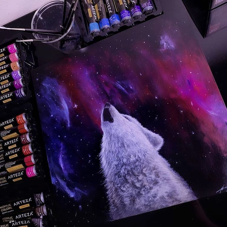 ilustracion de lobo Jonathan Martinez