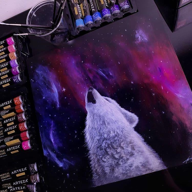 Wolf Illustration by Jonathan Martinez