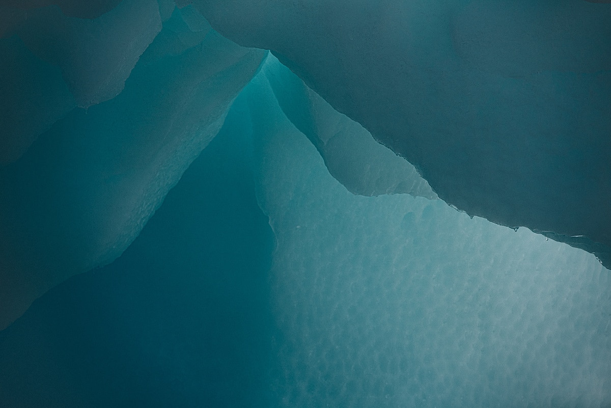 Abstract Photo of Ice in Antarctica