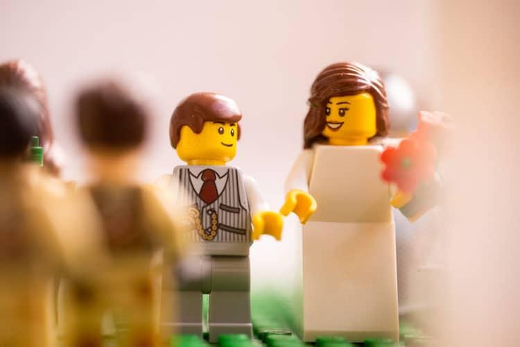 Sesión de fotos con minifiguras de LEGO