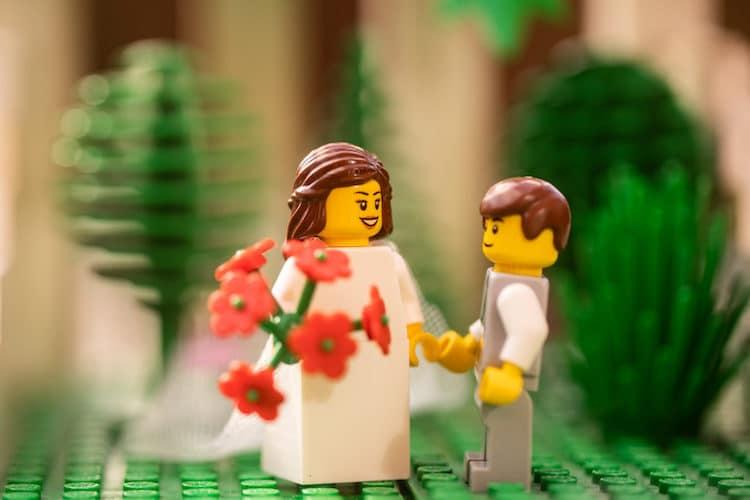 Fotos de una boda con minifiguras de LEGO