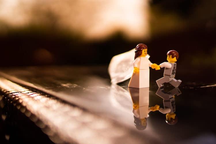 Fotos de una boda de LEGO