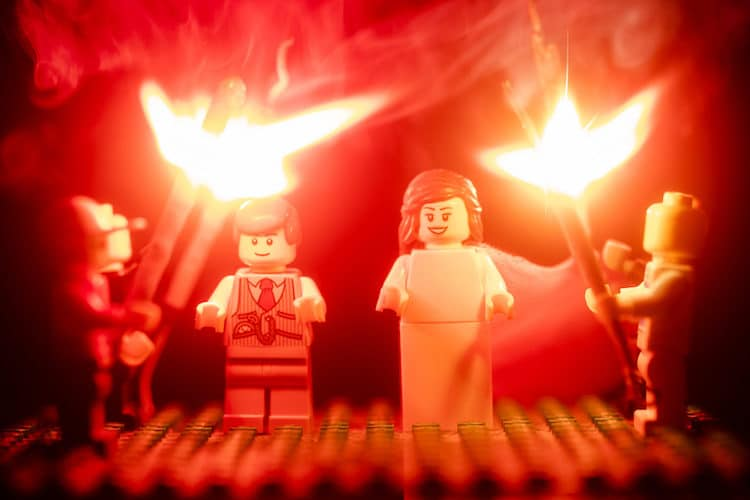 Fotos de boda de LEGO