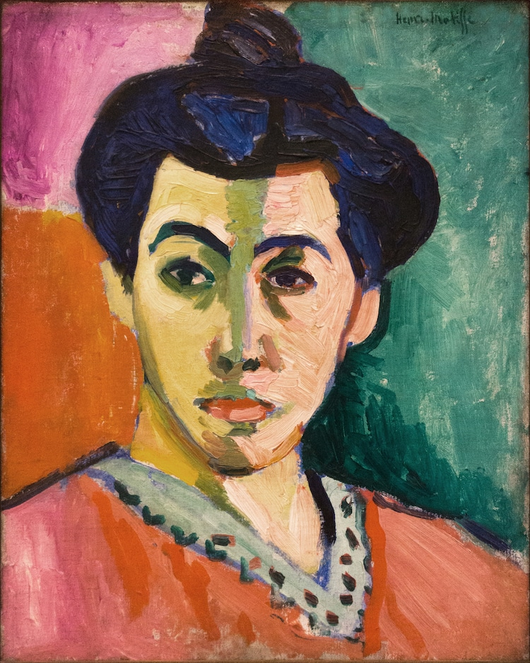 Henri Matisse, The Green Stripe (Portrait of Mme Matisse), 1905. National Gallery Copenhagen