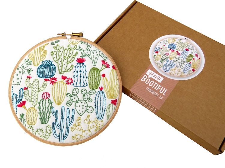 Cactus Hand Embroidery Kit