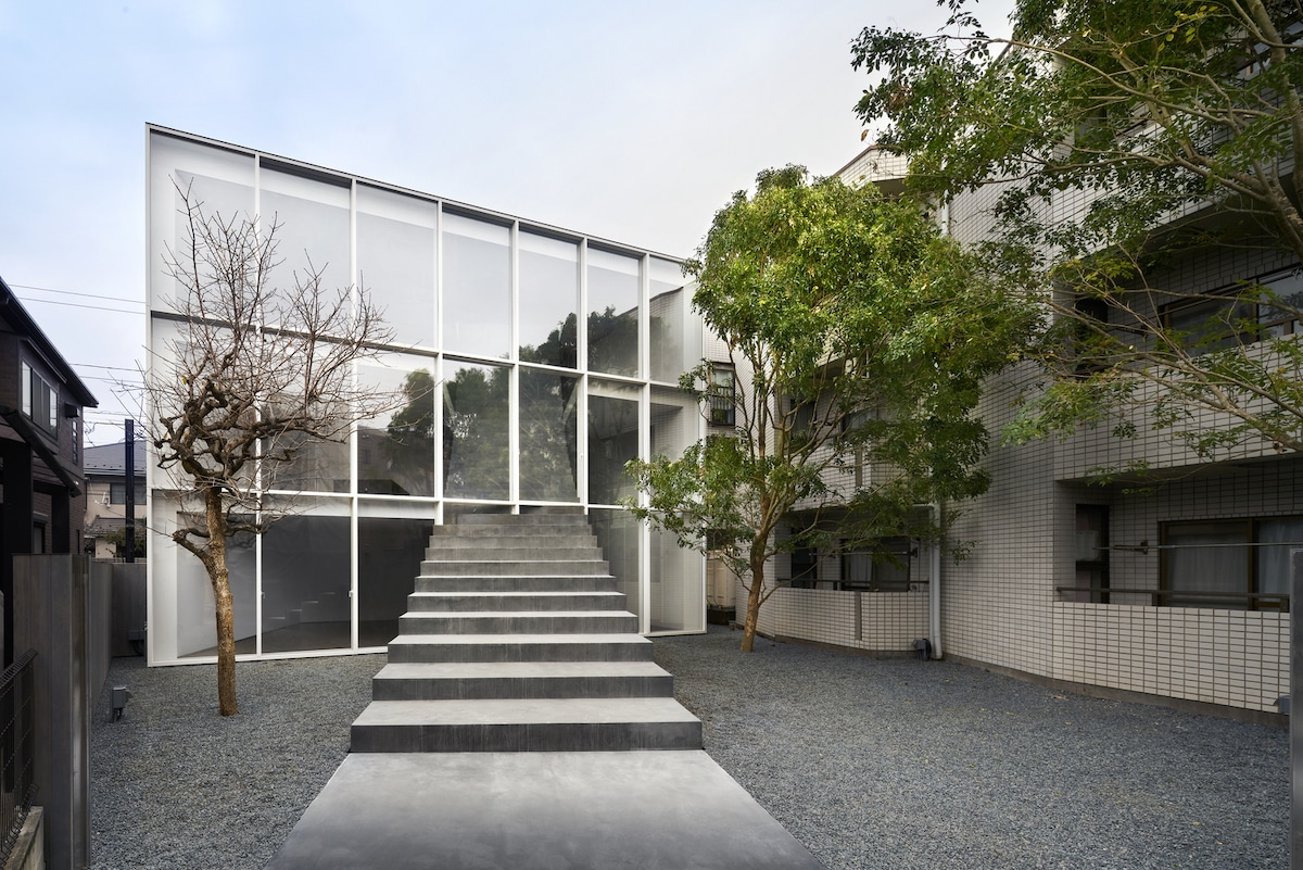 Exterior of Stairway House in Minato City, Tokyo