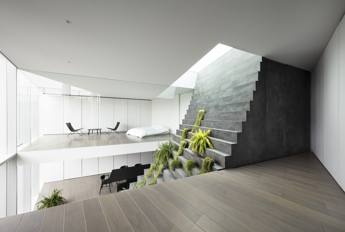 Interior of Stairway House by Nendo