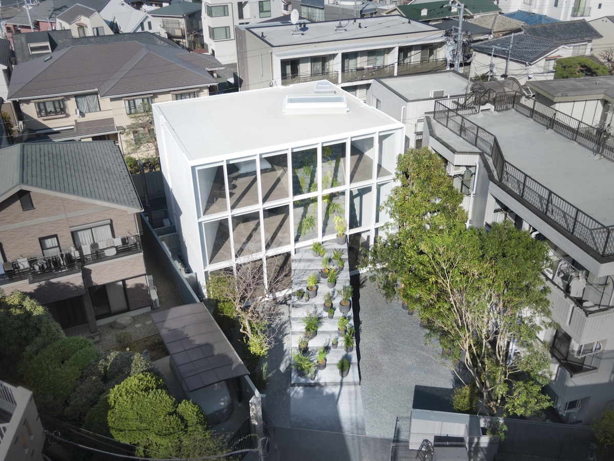 Aerial View of Contemporary Home in Japan