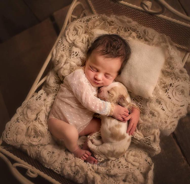 Newborn Photography with Baby Animals by Sujata Setia