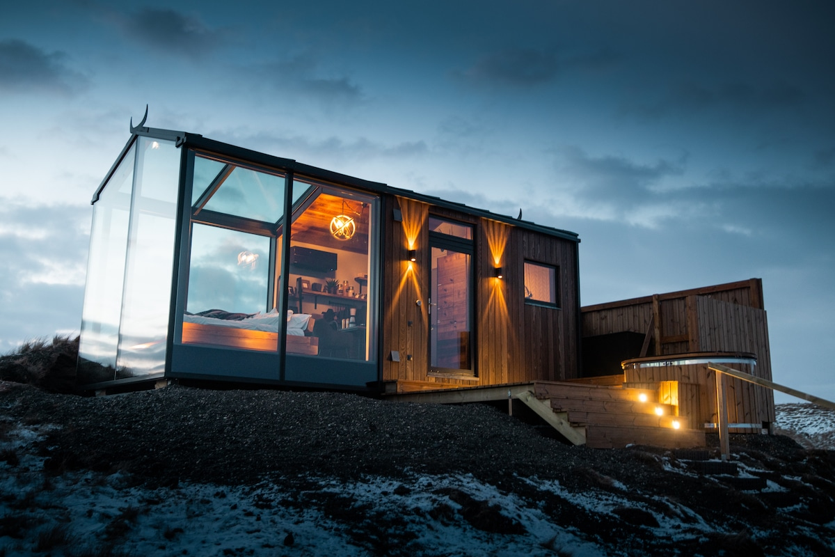 Glass Cabin in Iceland
