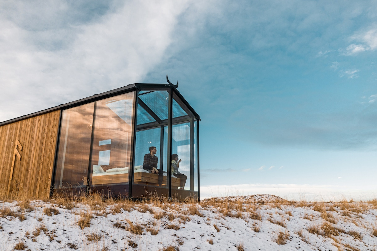 Cozy Glass Cabins Give Sweeping Views of the Icelandic Countryside