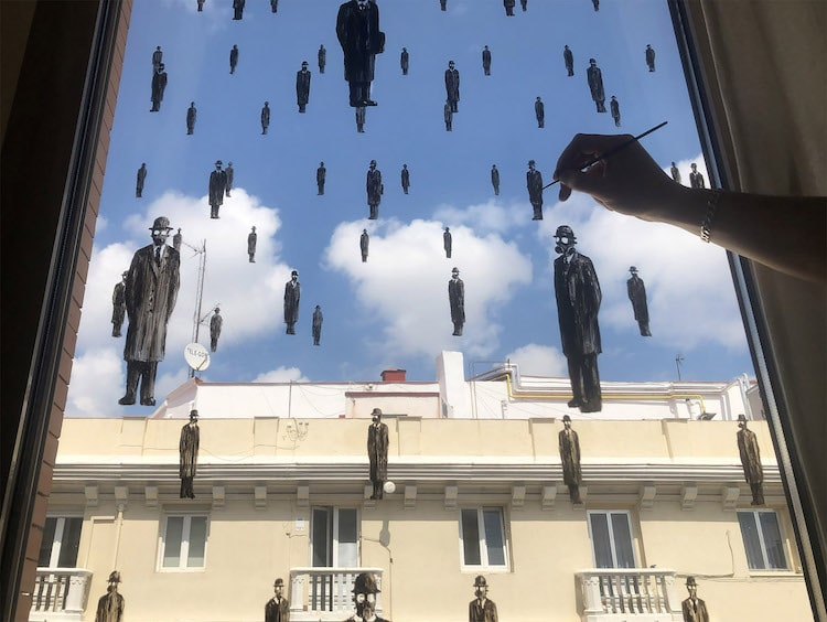 Pejac Painting on a Window