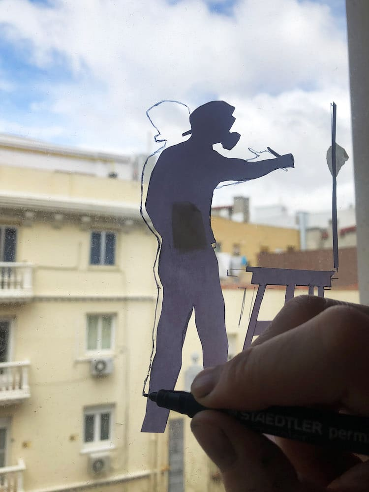 Tracing Figure on a Window