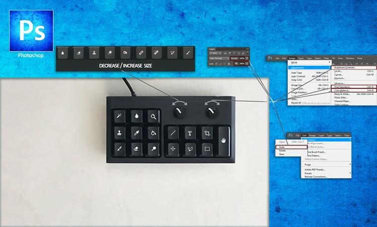 Mini teclado de Photoshop