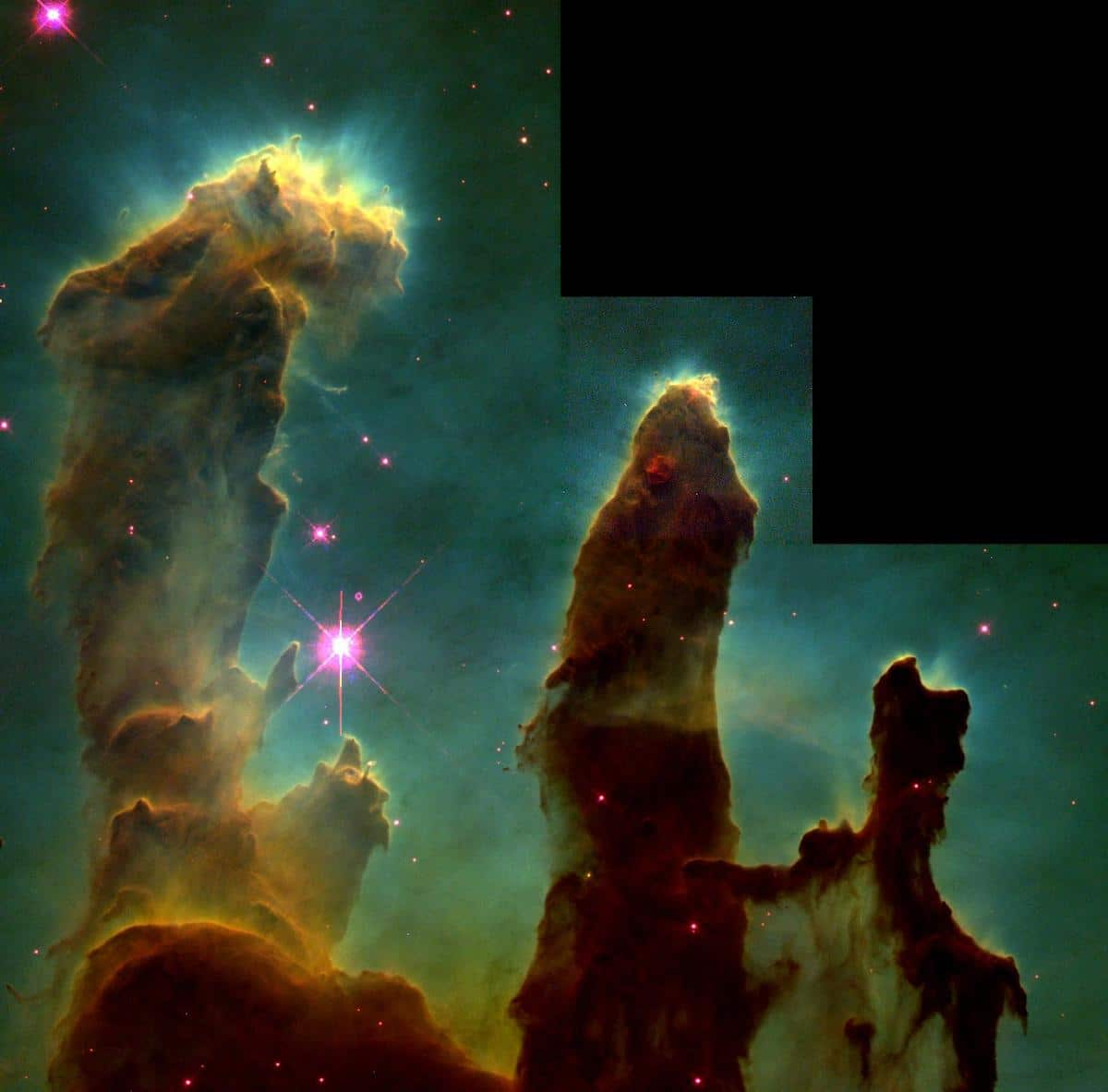 Pillars of Creation 1995 Hubble Telescope Photo